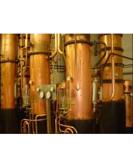 Colonnes de distillation à repasse, 10 à 500 hl, cuivre ou inox